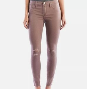 Rock & Republic Mauve Distressed Skinny Jeans 16